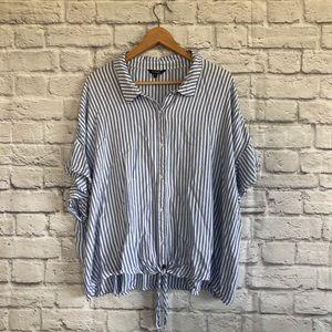George Blue White Stripe Button down Shirt